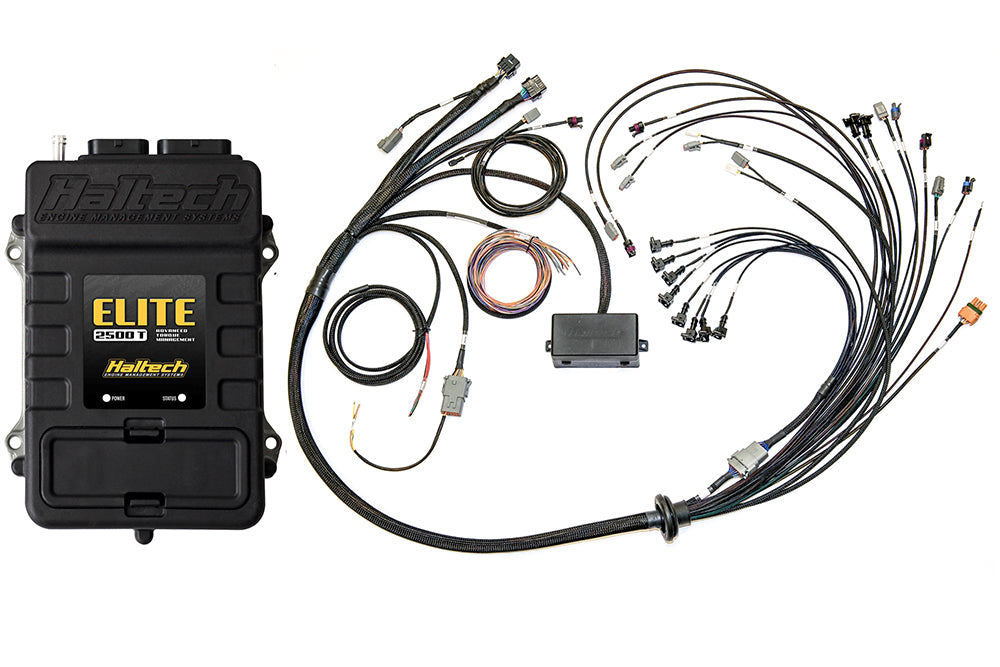 Elite 2500 T with ADVANCED TORQUE MANAGEMENT & RACE FUNCTIONS - Ford Coyote 5.0 Terminated Harness ECU Kit