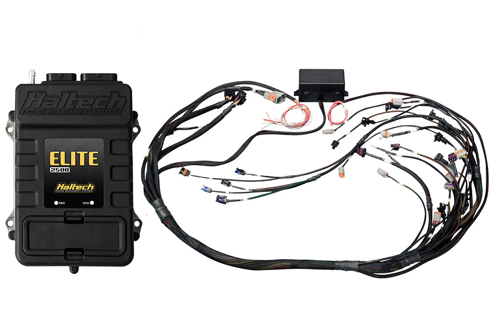 Elite 2500 with RACE FUNCTIONS - GM GEN III LS1 & LS6 (GEN IV LS2/3 DBW Retrofit Ready)Terminated Harness ECU Kit