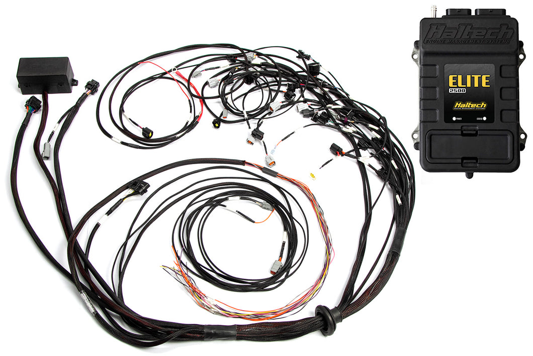 Elite 2500 with ADVANCED RACE FUNCTIONS - Ford Falcon BA/BF Barra 4.0 Terminated Harness ECU Ki