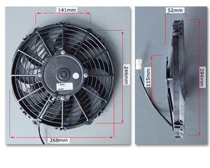 "SPAL 10"" Fan skew blade pusher"