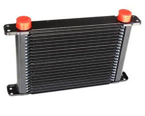 "Engine Oil Cooler - Plate & Fin 280 x 256 x 37mm (28 Row) with 9"" SPAL fan mounts"