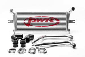 HOLDEN Colorado RG 2012-2013 2.8L Diesel 55mm Intercooler & Pipe Kit, billet ribbed outlets, includes silicone hose