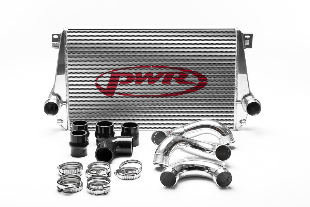 VW Amarok 2012-2016 2.0L 42mm Intercooler & Pipe Kit, billet ribbed outlets