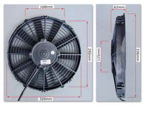 "SPAL 12"" Fan skew blade Extreme Performance