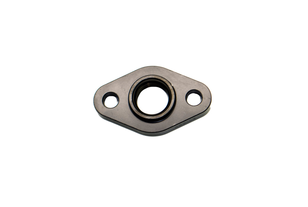 Billet Turbo Drain adapter with Silicon O-ring. 52.4mm mounting hole center - Large frame universal fit.