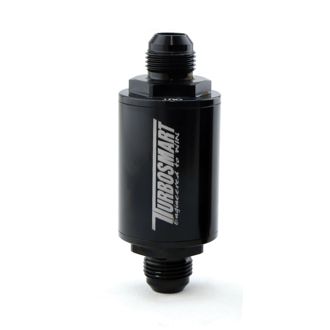 FPR Billet Fuel Filter 10um AN-10 - Black