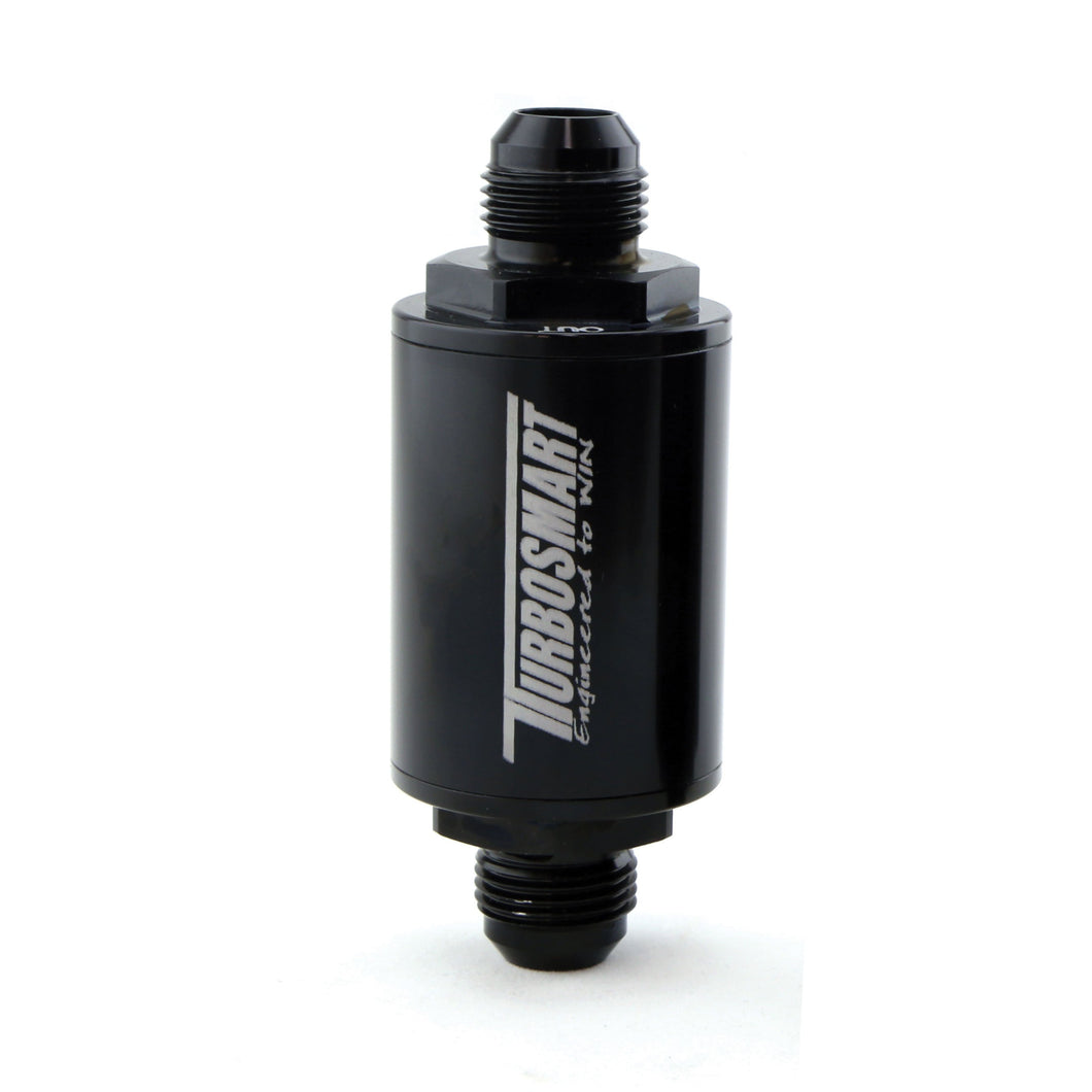 FPR Billet Fuel Filter 10um AN-8 - Black