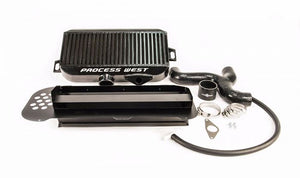 Top Mount Intercooler Kit (suits Subaru 04-07 Forester XT) (with 02 STI Bonnet Scoop) - Black