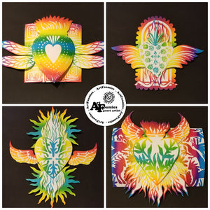 MoonGlo Bright Rainbow heARTfoamies Valentines by Jenn White