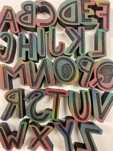 Balzer Designs | Shadow Alphabet | Foam Stamps - Set of 26