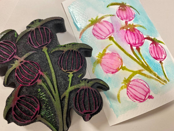 Patti Tolley Parrish | Poppies | Foam Stamp