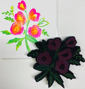 Kae Pea | Florally | Foam Stamp