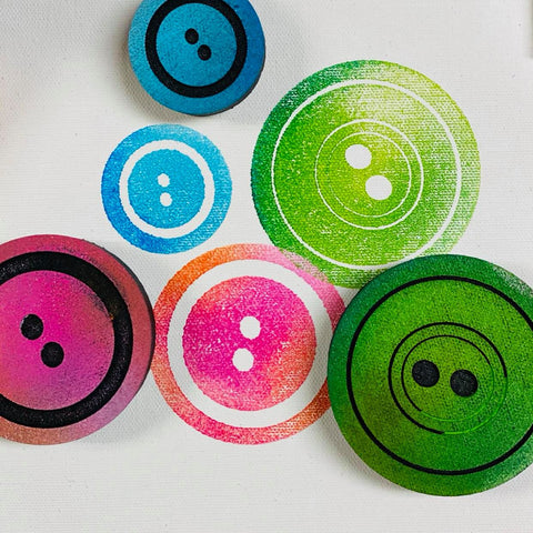 Emmie Roelofse | Buttons | Foam Stamps - Set of 3
