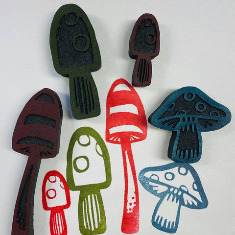 Kae Pea | Shroom to Grow | Foam Stamps - Set of 4