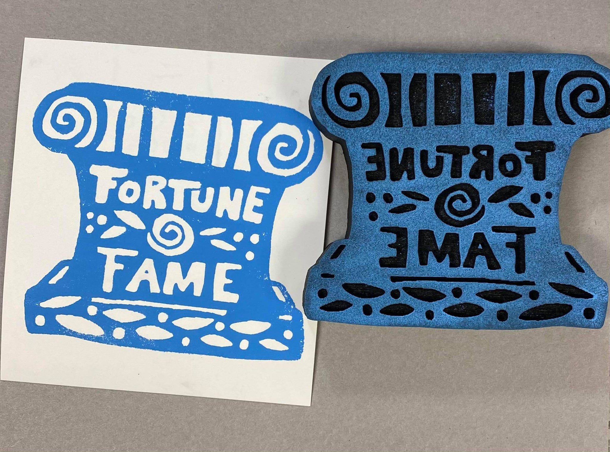 Marylinn Kelly | Fortune & Fame | Foam Stamp
