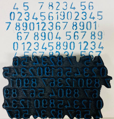Donna Downey | Mixed Up Numbers | Foam Stamp