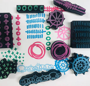 Flutterby Designs | Patterns | Foam Stamps - Set of 9
