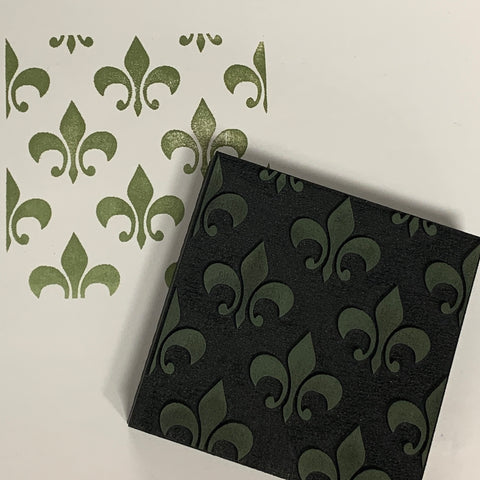 Ann Butler | Fleur De Lis Background | Foam Stamp
