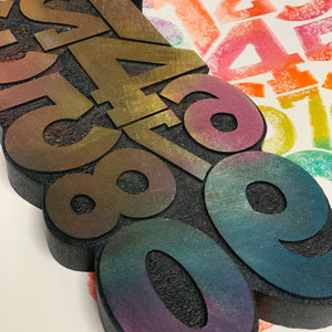 Balzer Designs | Big Numbers | Foam Stamp
