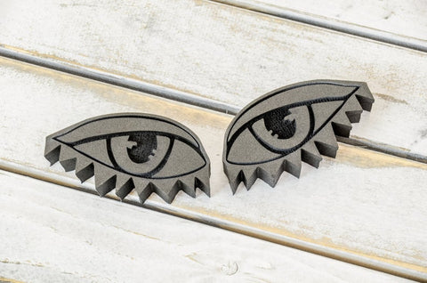 Balzer Designs | Eyes Triangle Lashes | Foam Stamps - Set of 2