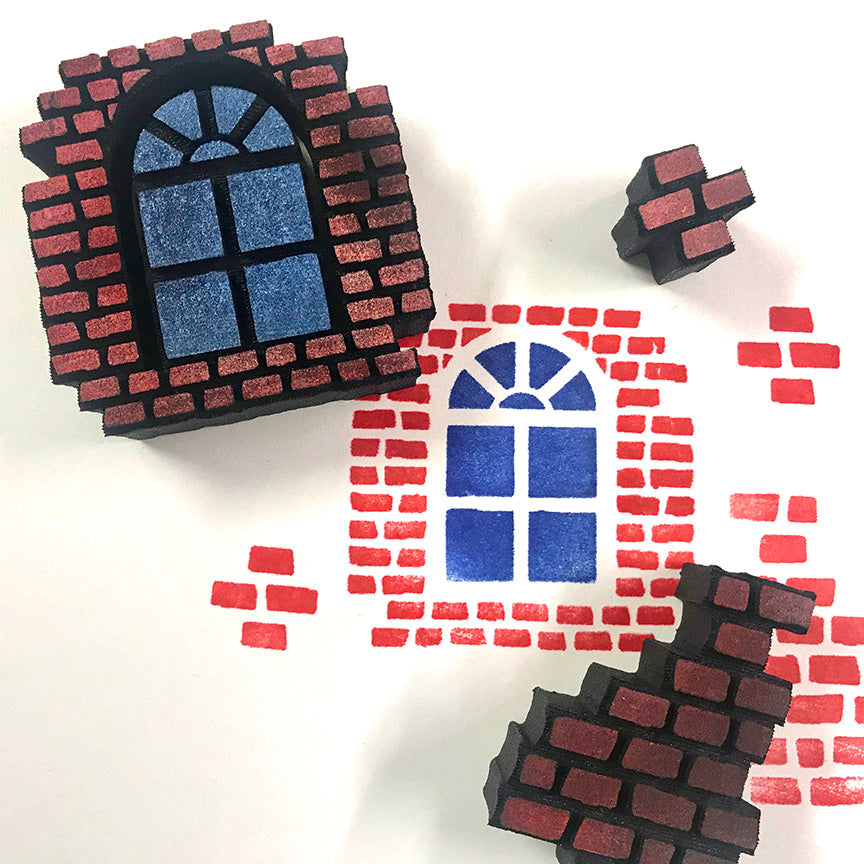 Candy Rosenberg | Bricks & Windows | Foam Stamps - Set of 4