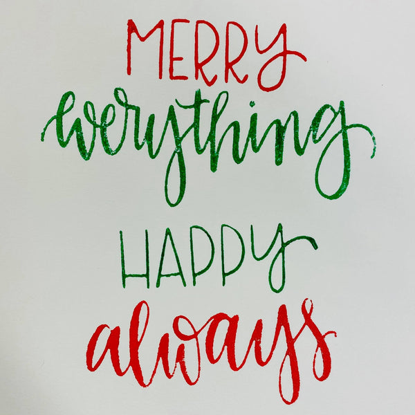 Gale Nation | Merry Everything, Happy Always | Foam Stamps - Set of 2
