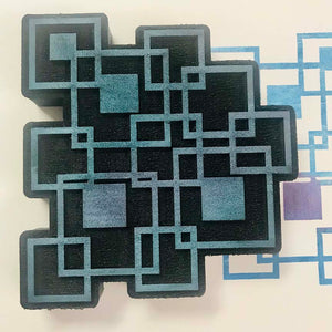 Gypsy Soul | Fragmented Squares | Foam Stamp