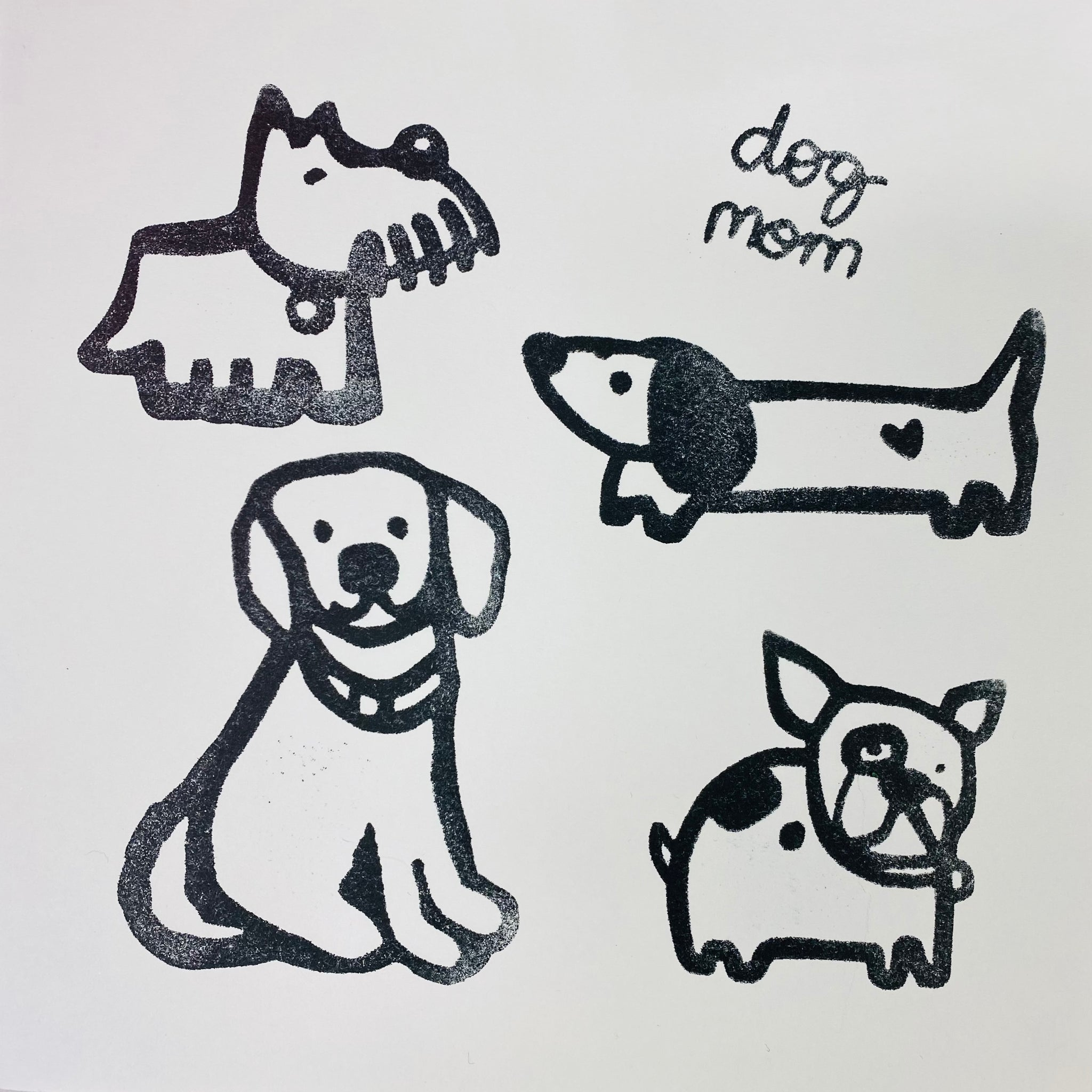Kae Pea | Dog Mom | Foam Stamps - Set of 5
