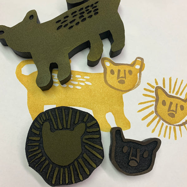 Sarah Matthews | Lion & Lioness | Foam Stamps - Set of 4