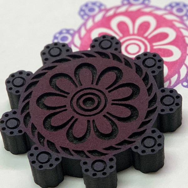 Red Tin Roof | Crochet Mandala | Foam Stamp