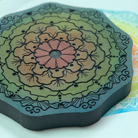 Red Tin Roof | Marigold Mandala | Foam Stamp