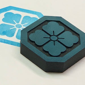 Lisa Walton | Japanese Floral Tile | Foam Stamp