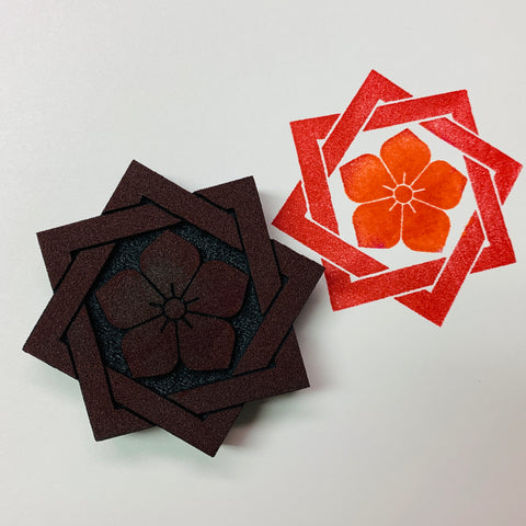 Lisa Walton | Japanese Lotus Tile | Foam Stamp