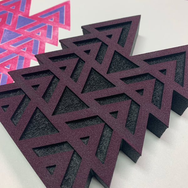 Sarah Matthews | Stacked Triangles Positive & Negative | Foam Stamps - Set of 2