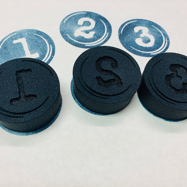 Red Tin Roof | Typewriter Numbers | Foam Stamps - Set of 13