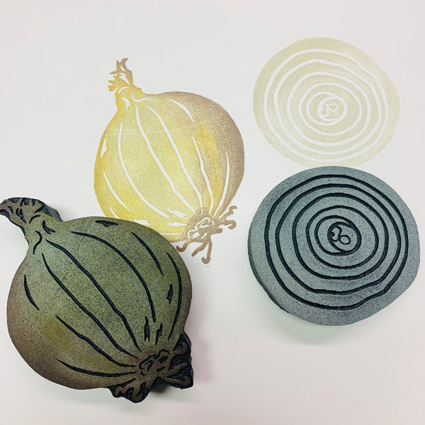 Red Tin Roof | Onions | Foam Stamps - Set of 2