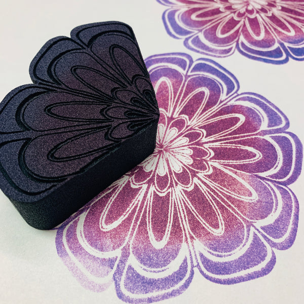 Marta Harvey | Hexagon Flower Pattern | Foam Stamp