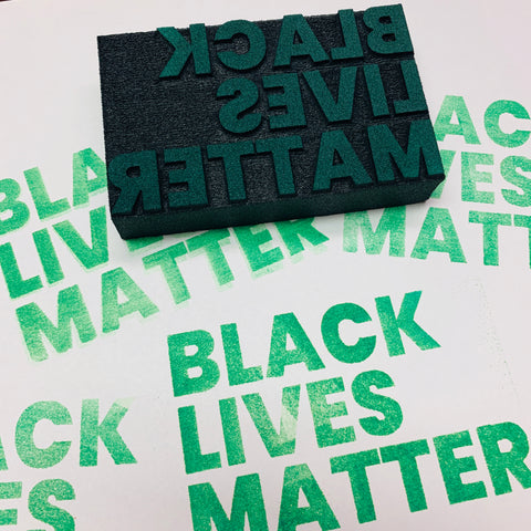 Sarah Matthews | Black Lives Matter | Foam Stamps - Set of 2