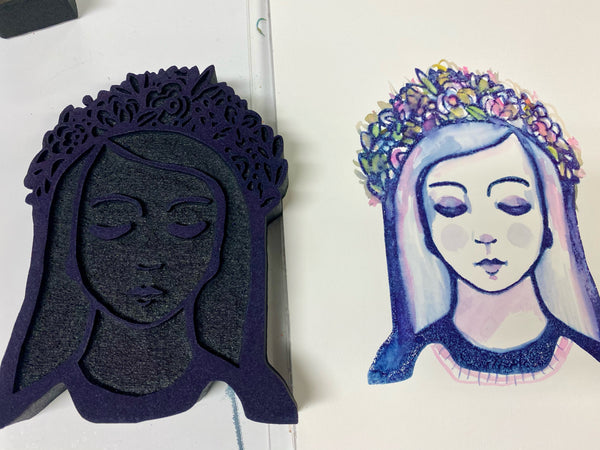 Kae Pea | Floral Crown | Foam Stamp