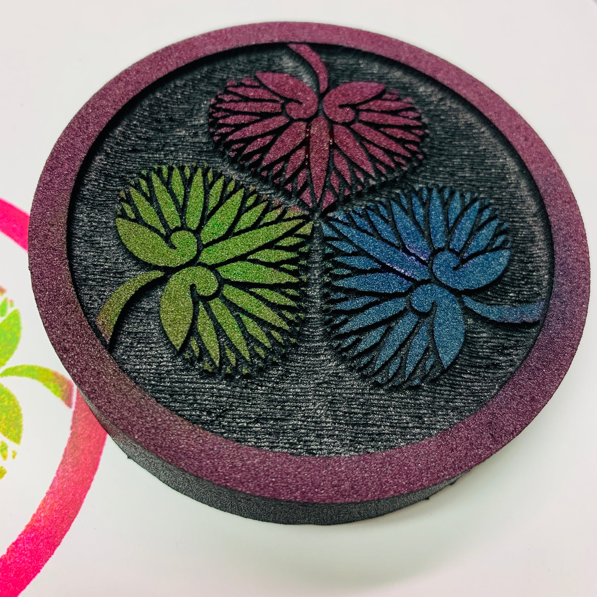 Lisa Walton | Water Lily Circle | Foam Stamp