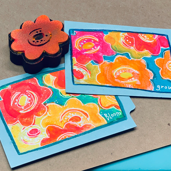 Jone Hallmark | Floral Trio | Foam Stamps - Set of 3