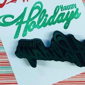 Red Tin Roof | Happy Holidays | Foam Stamp