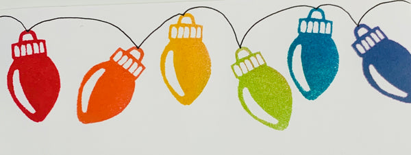 Kae Pea | Christmas Lights | Foam Stamps - Set of 3