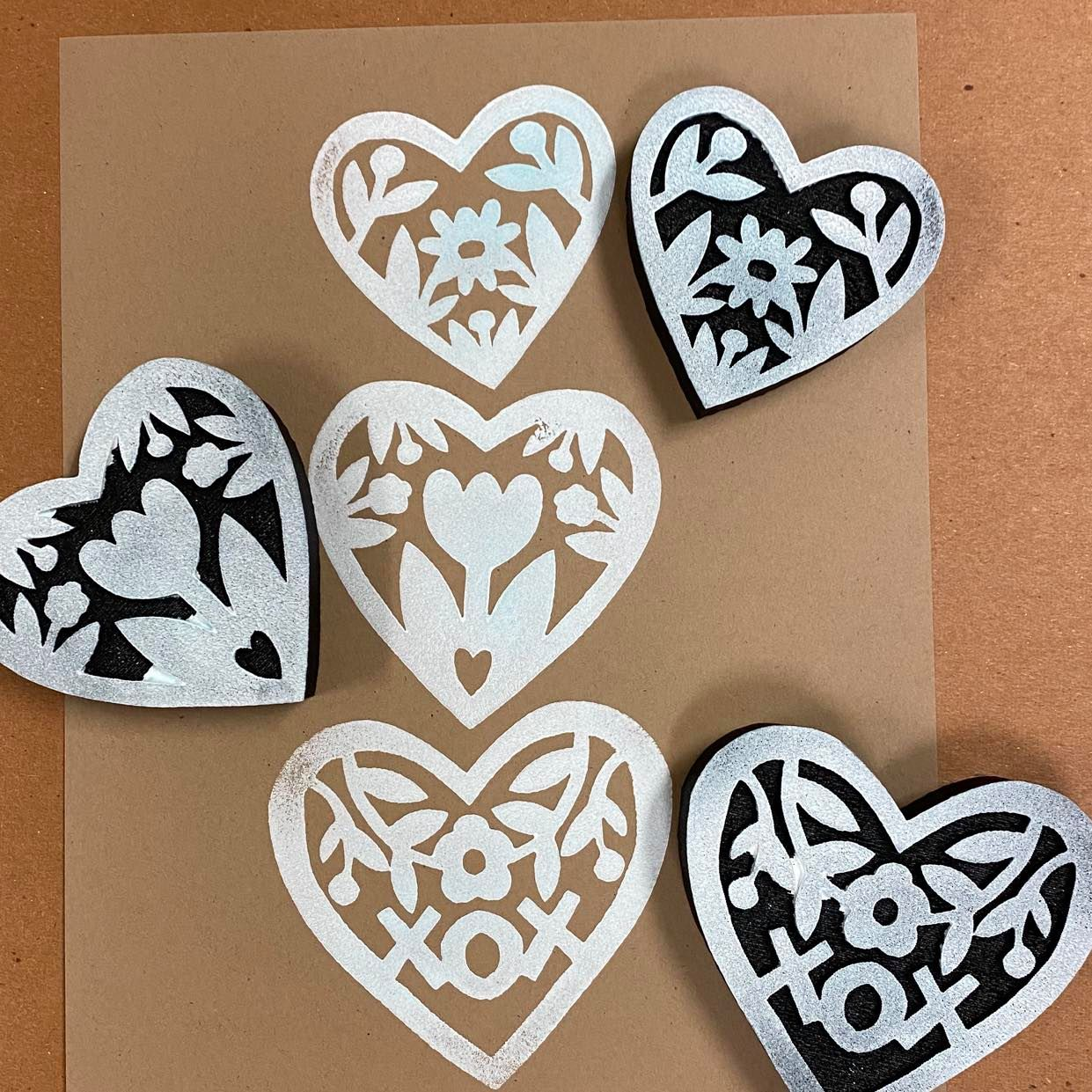 Jone Hallmark | Heart Trio | Foam Stamps - Set of 3