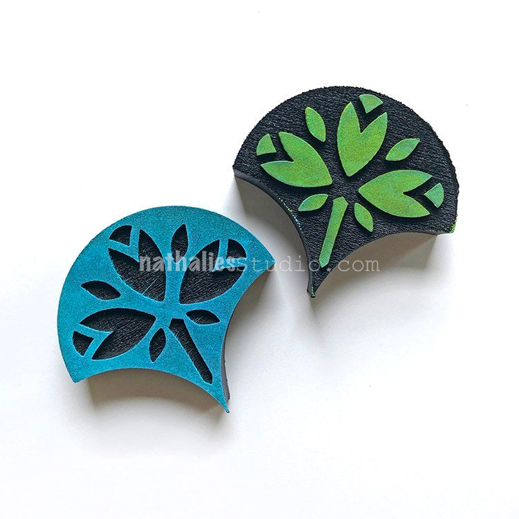 Nathalie Kalbach | Jewett Fan Positive & Negative | Foam Stamps - Set of 2