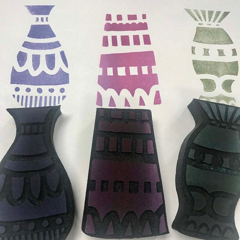 Kae Pea | Vases | Foam Stamps - Set of 3