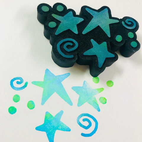 Kae Pea | Star Sprinkles | Foam Stamp