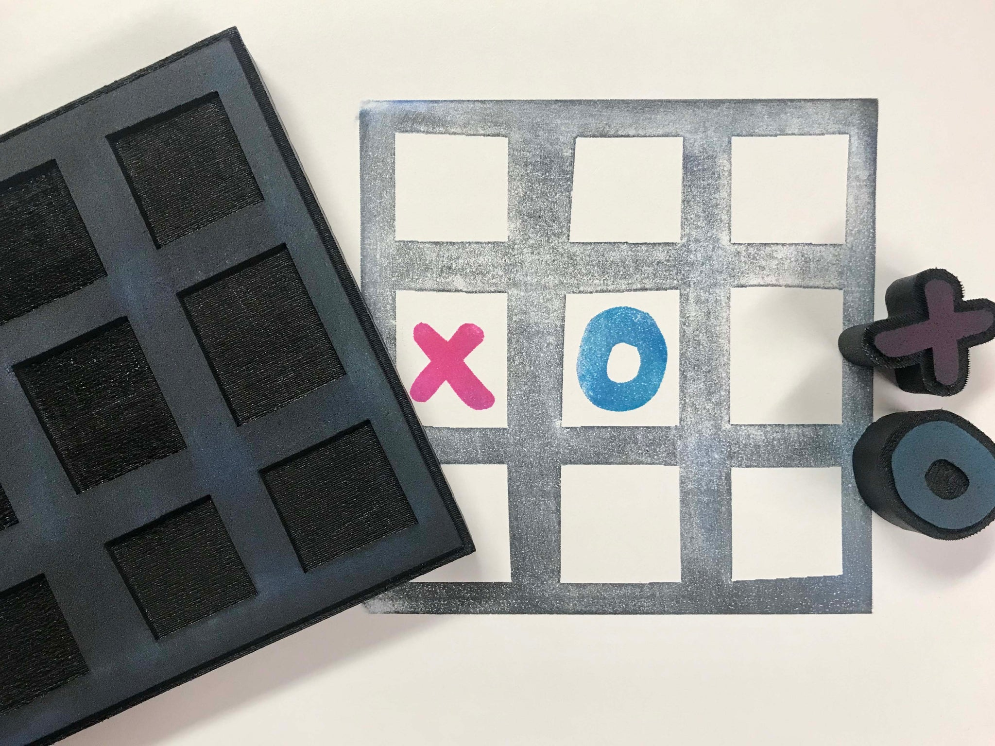 Kae Pea | Tic Tac Toe | Foam Stamps - Set of 3