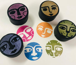 Kae Pea | Four Faces | Foam Stamps - Set of 4