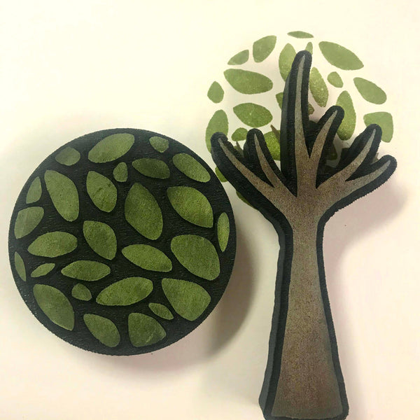 Kae Pea | Tree | Foam Stamps - Set of 2